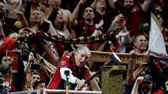 El Atlanta festejando su título de la MLS con un desfile