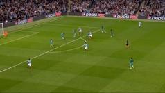Gol de Agüero (4-2) en el Manchester City 4-3 Tottenham