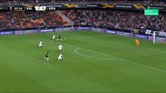 Gol de Claesson (2-1) en el Valencia 2-1 Krasnodar