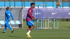 El Barça se entrena antes del Clásico sin Pedri, ni Jordi Alba ni Araújo