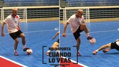 Serginho Paulista hace magia (literalmente) sobre el parqué: ¡levanta el balón... pisándolo!