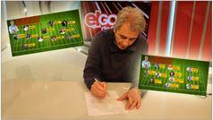 Manolo Lama confecciona su once ideal de futbolistas... y de periodistas
