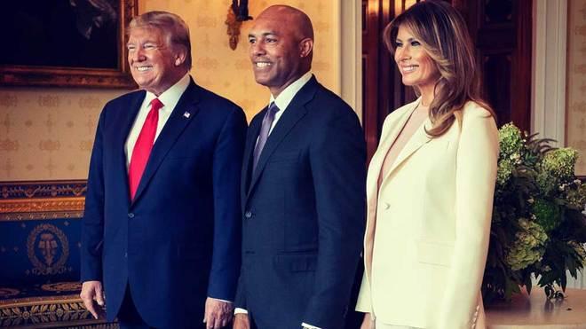 Rivera recibe máxima condecoración de EEUU de manos de Trump