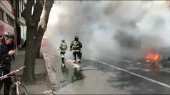 El ejército toma las calles de la capital de Chile tras declararse el estado de emergencia