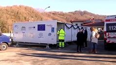 Ya funciona el hospital móvil que vacunará en zonas rurales de Navarra