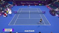 Muguruza se pasea ante Sakkari (6-3 y 6-1) y ya está en semis de Doha