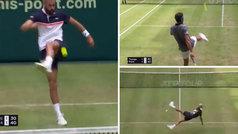 Tsonga y Paire juegan el mejor punto de tenis del año... ¡sin raquetas!