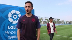 Sergi Milà, técnico del Barcelona, analiza el paso a la final