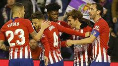 LaLiga (J16): Resumen y goles del Valladolid 2-3 Atlético