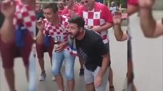 La nana de unos hinchas croatas a una niña que se ha hecho viral