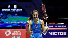 Carolina Marín, feliz tras ganar el Abierto de China