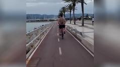 Ibrahimovic, estilazo hasta para montar en bici