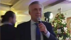 """Ancelotti desafina en la cena de Navidad del Nápoles: """"Mister, mejor a entrenar"""""""