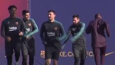 El Barcelona calienta motores para la cita de Champions