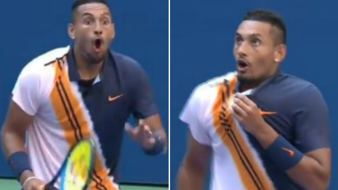Roger Federer stuns crowd, Nick Kyrgios with incredible shot around net post