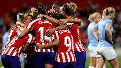 Champions femenina (octavos, vuelta): Resumen y goles del Atlético 2-1 Manchester City
