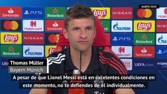 """Müller: """"A Messi no lo puedes defender con una sola persona"""""""