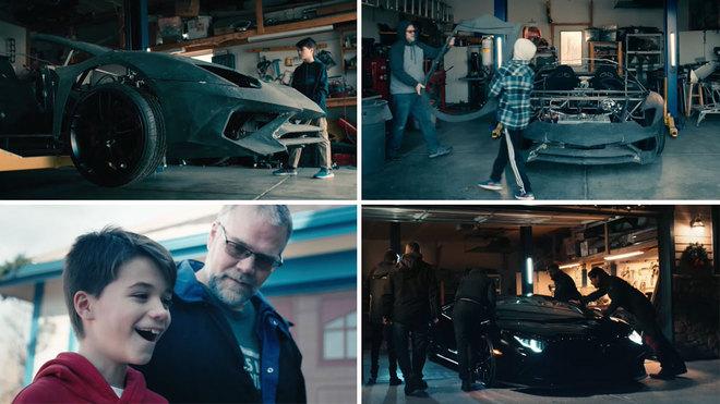 Lamborghini sorprende a padre e hijo que imprimieron auto en 3D — Navidad