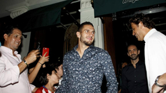 El Atlético celebra la Supercopa con una cena