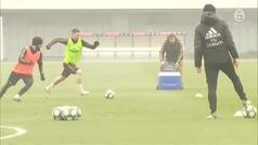 El Madrid se prepara para medirse al Brujas
