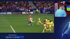 El Atlético reclamó un penalti sobre Giménez con 2-3 en el marcador