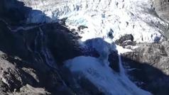 Espectacular colapso de un glaciar en Suiza