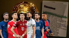 Balón de Oro 2021 : ¿Es esta la lista oficial con el ganador? I Ballon D'Or