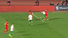 ¡Bulgaria empató a Montenegro con un penati medio metro fuera!