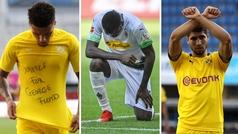 Sancho, Achraf, Thuram... las celebraciones contra el racismo en la Bundesliga