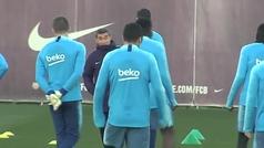 Valverde se niega a otro túnel de collejas
