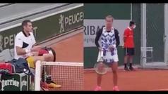 Así reaccionaron a los alaridos de dolor de Bertens en las pistas adyacentes de Roland Garros