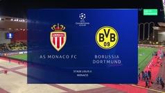 Champions League (J6): Resumen y goles del Mónaco 0-2 Borussia Dortmund