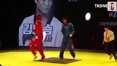 Al estilo Tekken: usan barras de salud en el taekwondo durante un combate