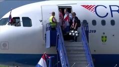 Locura en Croacia con la llegada de su selección