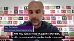 """Guardiola: """"Jugamos muy bien y perdimos, es un buen resumen de la temporada"""""""