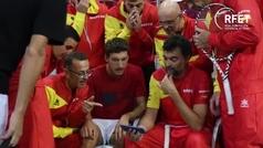 El equipo español vibra con la remontada de Nadal