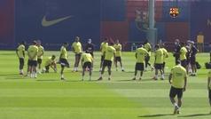 Sigue la preparación del FC Barcelona