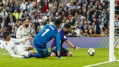 Copa del Rey (semis, vuelta): Resumen y goles del Real Madrid 0-3 Barcelona