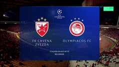 Champions League (Grupo A): Resumen y goles del Estrella Roja 3-1 Olympiacos