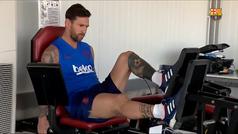 Messi sufre una contractura en el cuádriceps de su pierna derecha