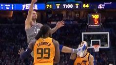 Ricky Rubio sufre la agresión de la noche en la NBA: Se lleva una patada en la cara