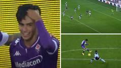 Golazo de Tófol Montiel para dar a la Fiorentina la victoria y el pase de ronda en Coppa Italia
