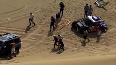 Así rescataron a Carlos Sainz