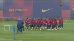 Así fue el entrenamiento del Barça antes de medirse al Cádiz