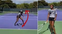 El espectacular 'tweener' de la niña prodigio del tenis con el que Kyrgios alucina