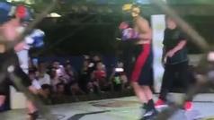 Así fue el KO en el segundo asalto del hijo de Pacquiao