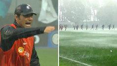 Ni el peor aguacero detiene al Inter del 'sargento' Conte: ¡la que les cayó en el entreno!
