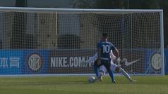 Lautaro sigue a los suyo: doblete en un amistoso... y el segundo gol es de locos