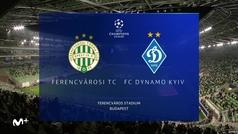 Champions League (J2): Resumen y goles del Ferencvaros 2-2 Dinamo de Kiev