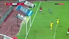 La última sobrada de Salah con Egipto: la 'sentada' (al portero), la rematada y el gol